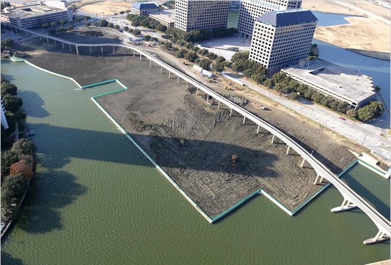 Riverfront retaining wall Texas
